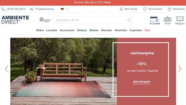 AmbienteDirect Webseite