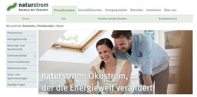 Naturstrom Webseite