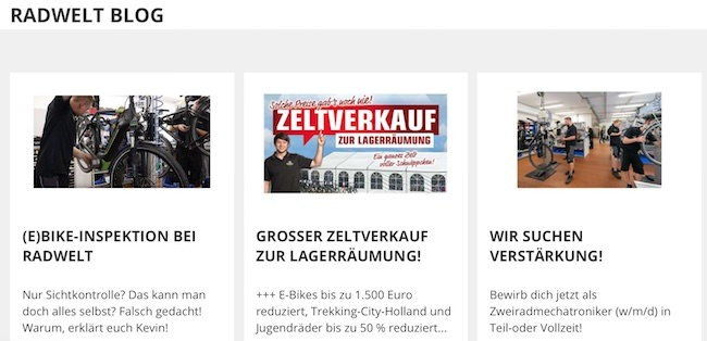 Radwelt-Shop Blog